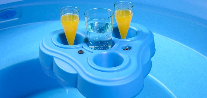 Kirami's fixed and floating drink holders help keep your refreshments cool and within arm's reach. | Kirami