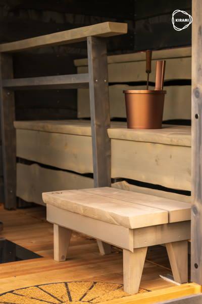 Kiramin FinVision -sauna on kädentaitajan korkealuokkaista viimeistelyä | Kirami FinVision -sauna
